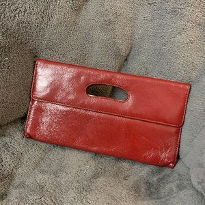 Hobo International Red Patent Leather Clutch NWOT